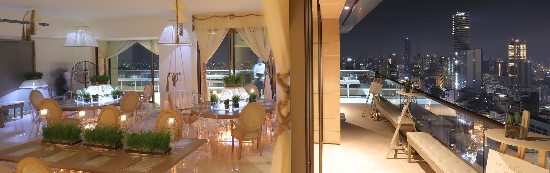 luxury apartment achrafieh city view